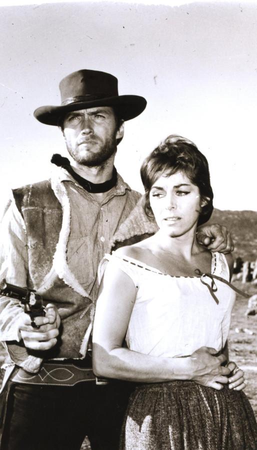 """L'acteur dans """"Une poignée de dollars"""", en 1964"""