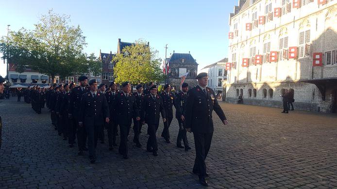 Militairen in Gouda