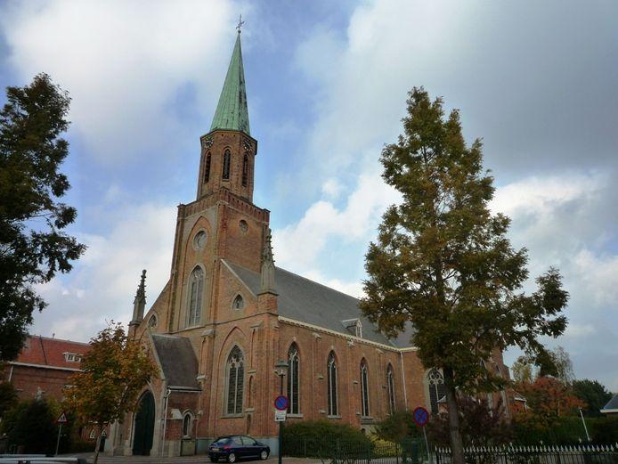 De voormalige kerk in Sint Jansteen.