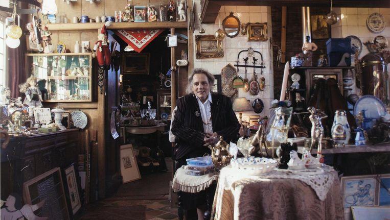 Rietje Leeuwerink (hier in 2007) kocht in de jaren zeventig een antiekzaak op de Zaanse Schans, waar ze tot haar dood woonde. Tijdens haar uitvaart stonden alle molens op rouwstand Beeld Mirjam Verdonk
