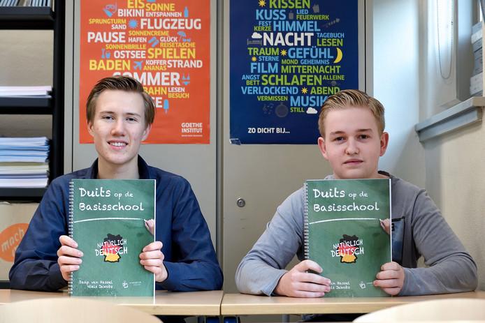 Niels Jakobs (l) en Daan van Hassel.