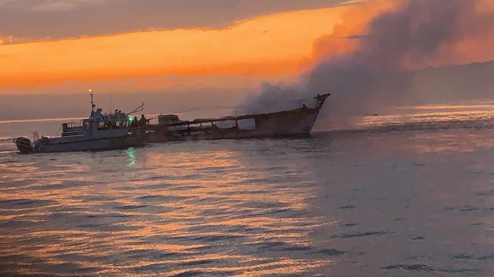 De passagiers overleefden de brand niet.