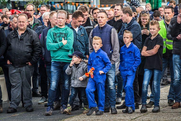 Brabantse boeren demonstreren bij het provinciehuis, oktober 2019. Het CDA stapte in december uit het Brabants college vanwege de aanpak van de stikstofcrisis. Beeld Arie Kievit