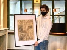 Eigenaar van nieuwe krokettenbar vindt 'Het Laatste Nieuws' uit 1935 terug onder oude planken