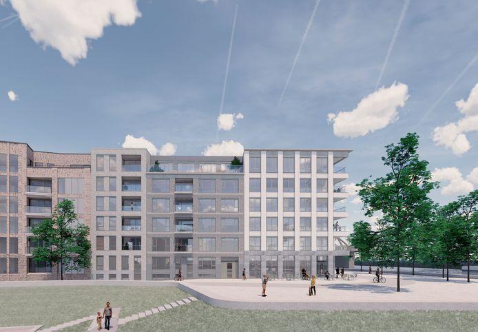Zo komt Kade Zuid eruit te zien. Het derde luxe appartementencomplex rond de jachthaven Noorderhaven in Zutphen.