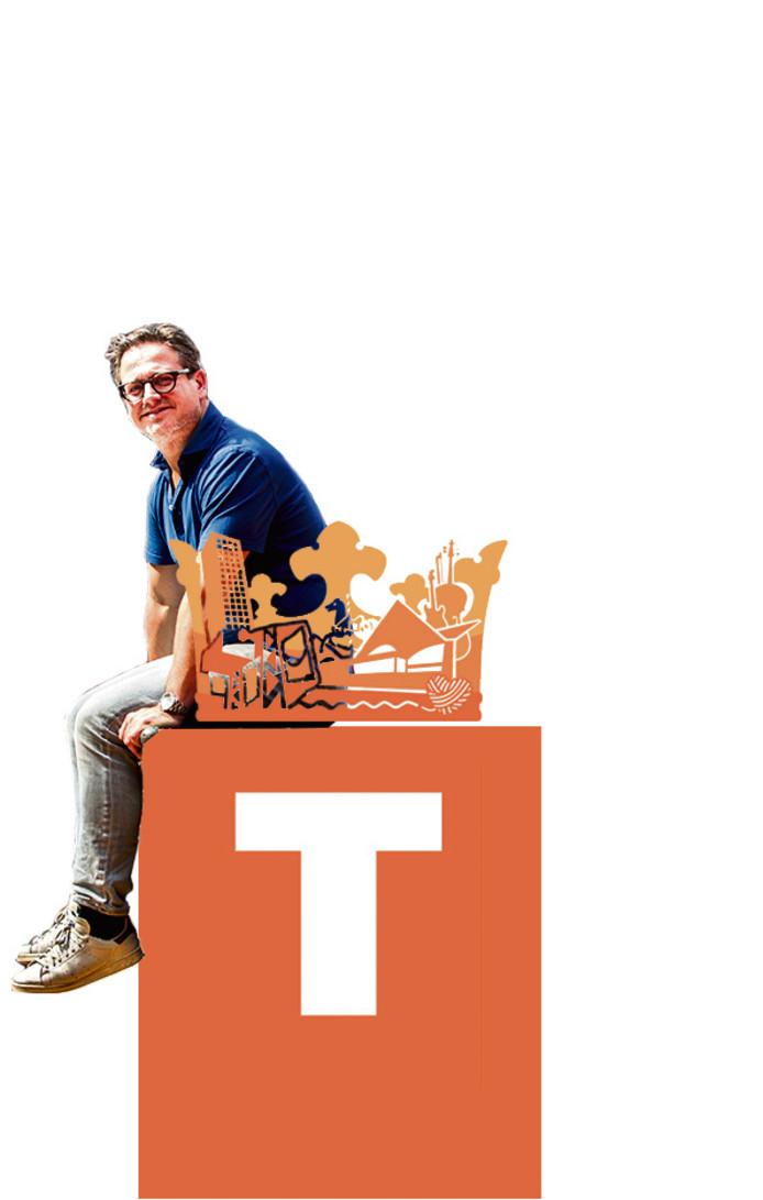 Het logo van Koningsdag in Tilburg. met Guus meeuwis
