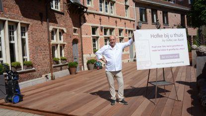"""Horeca stoomt zich klaar voor heropening: """"Terras Hofke van Bazel wordt meer dan ooit een troef"""""""