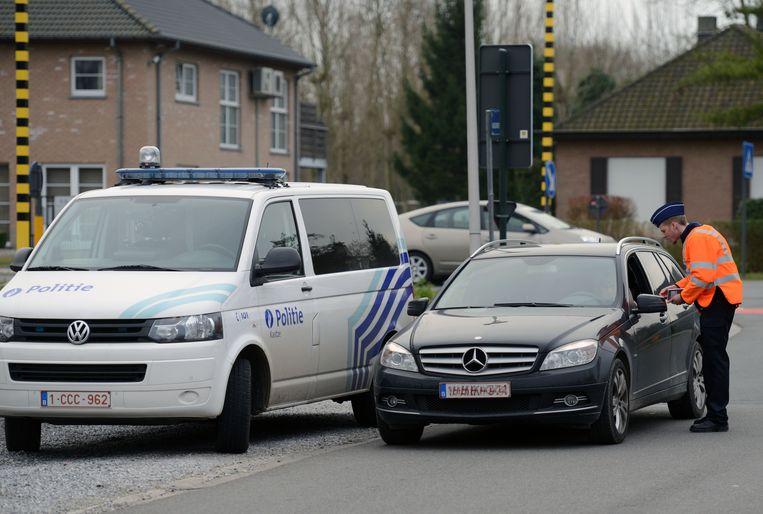 Politiecontrole van zone Kastze in Kampenhout.