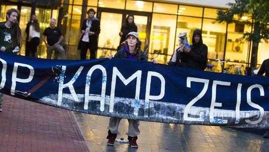 Vorig jaar werd er ook al gedemonstreerd tegen de uitbreiding van Kamp Zeist.