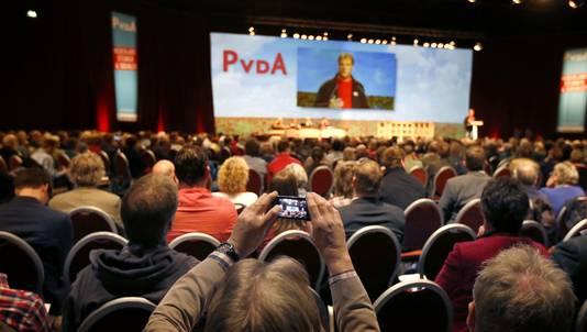Het PvdA-congres in Leeuwarden vandaag