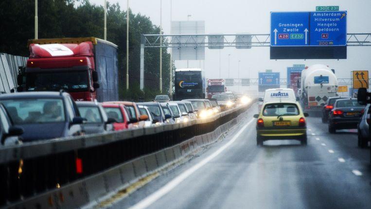 File op de Nederlandse wegen Beeld ANP
