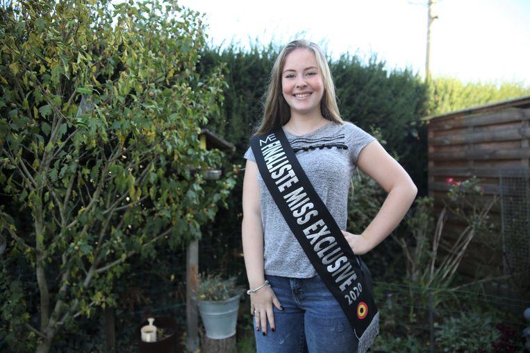 Camille Corbet uit Lembeek dingt mee naar het kroontje van Miss Exclusive.
