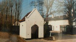 Herdenkingsobject op plek kapelletje familie Lietaert