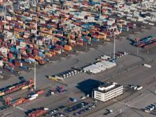 Speciale weg voor containers op de Maasvlakte