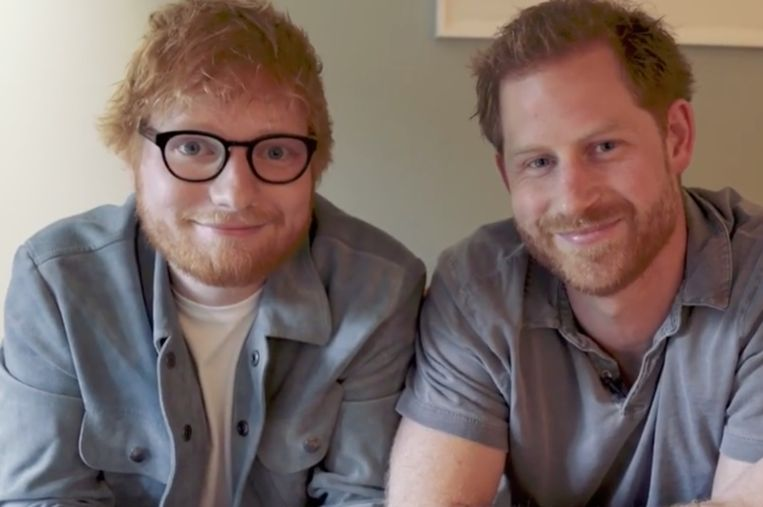Ed Sheeran en prins Harry werken samen.