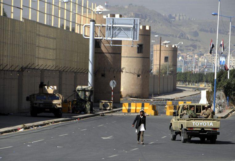 Het presidentiële paleis in Sanaa.