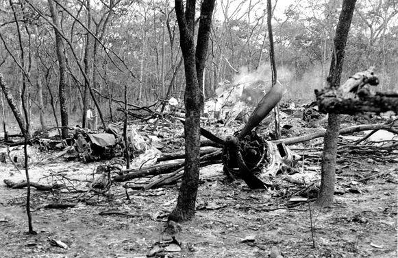 Het vliegtuig van Hammarskjöld crashte enkele kilometers van zijn eindbestemming.