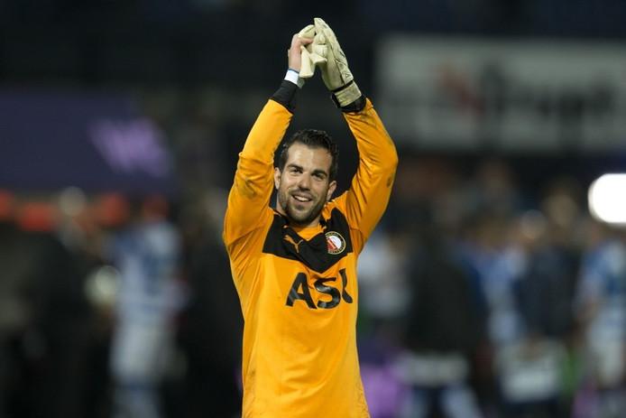 Kostas Lamprou na de zege op PEC Zwolle.