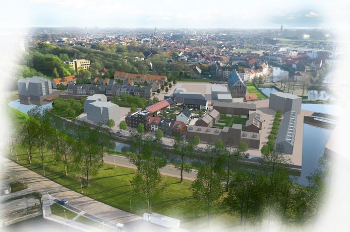 Een artist-impression van de nieuwbouw op het Nedalcoterrein. Foto Era Contour.