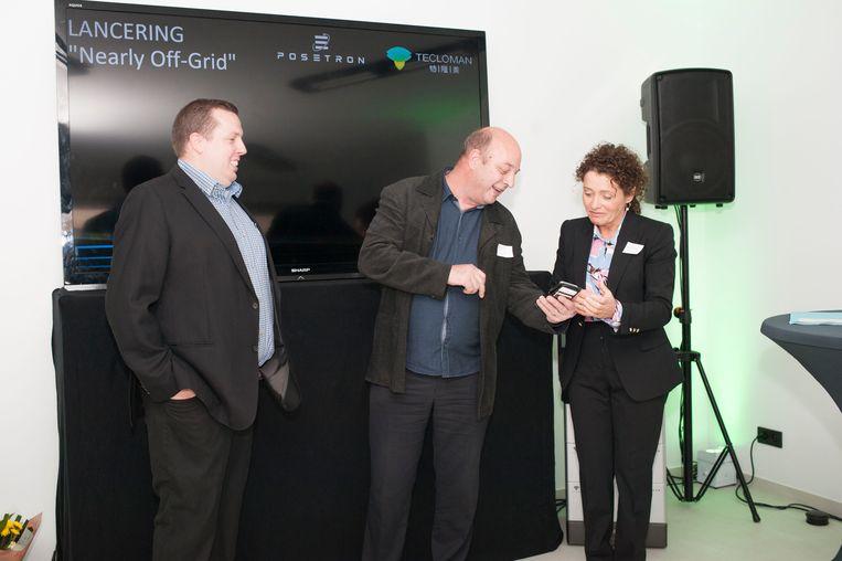 "Vlaams minister van Energie Lydia Peeters. ""Hier in Peer zet men bestaande technologie op een enorm innovatieve manier in"