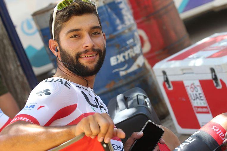 Gaviria was bij zijn debuut voor Team Emirates meteen aan het feest in Pocito.