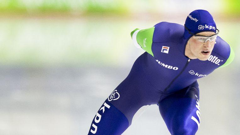 Tijdens het EK Allround wordt voor het laatst de 10 kilometer gereden. Sven Kramer is favoriet voor de afstandszege op de 10 kilometer en de eindzege. Beeld anp