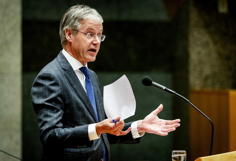 Minister Arie Slob van Basis- en Voortgezet Onderwijs en Media.  Beeld ANP - Robin van Lonkhuijsen.