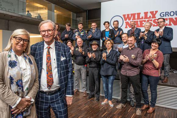 Willy en Marie-Jeanne tijdens de persconferentie vandaag.
