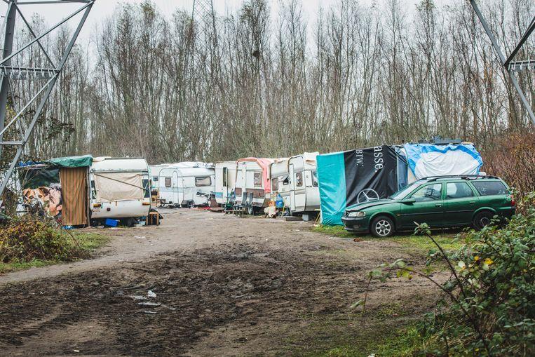 Beelden als dit behoren binnenkort tot het verleden, kampementen zoals aan de Hurstweg mogen niet meer.