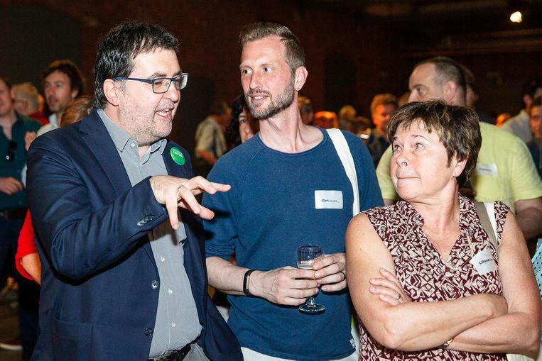 Wouter Van Besien bij de lancering van de kiescampagne van Groen in Gent.