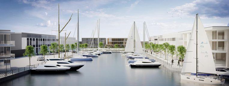 Nu nog een toekomstbeeld, maar wie weet binnenkort realiteit: een nieuwe Willebroekse jachthaven.