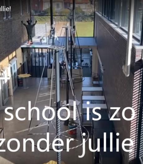 Erasmus Almelo aan leerlingen: 'Onze school is zo leeg zonder jullie'