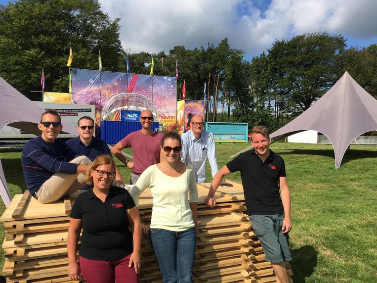 De organisatoren van Rijvers Festival op een archiefbeeld.
