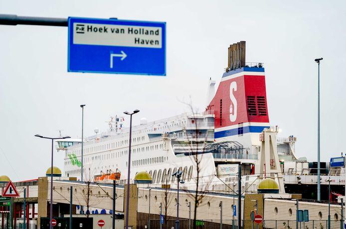 De ferry van Stena Line in Hoek van Holland.