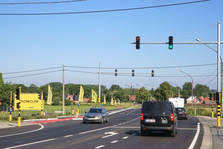 Ook het kruispunt aan Molecule in Vichte krijgt binnen enkele maanden het nieuwe type verkeerslicht.