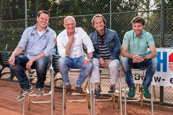 Het kwartet achter de Triple A Businessclub met vanaf links  Pascal van der Tuin (AMHC), Martin Bauman, Dennis Thee (beiden Alta) en Mark van Hoorn (AFC Quick 1890).