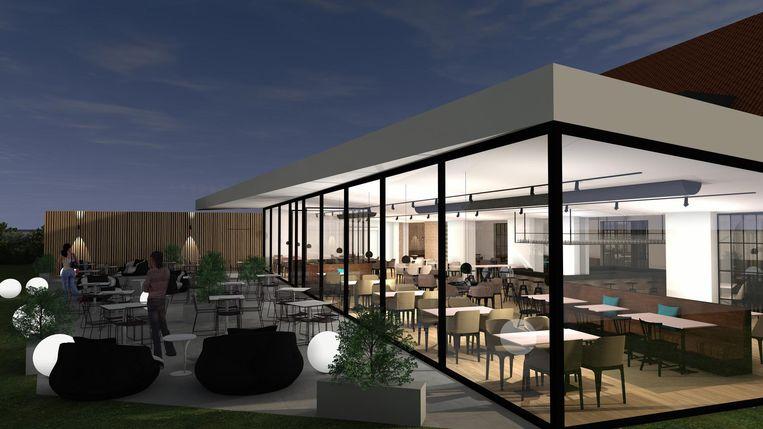 Een toekomstbeeld van het nieuwe restaurant.