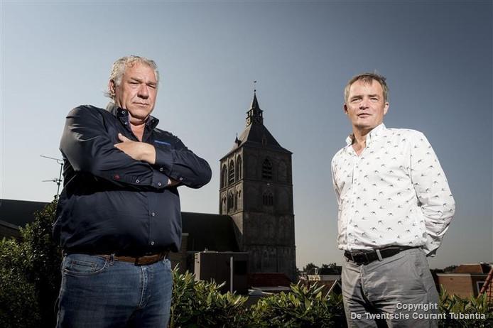 Herman Finkers (rechts) is initiator en regisseur van Missa in Mysterium, Marcel Willemsen is verantwoordelijk voor de organisatie.