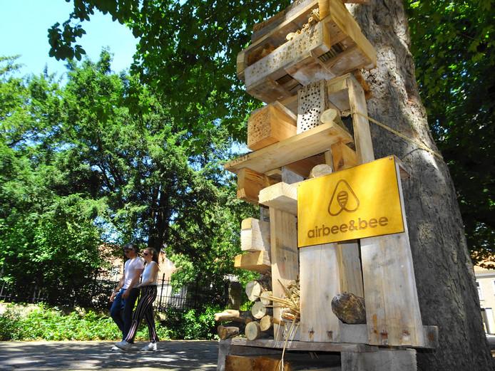 Er komen steeds meer bijenhotels voor de bedreigde wilde bijen.