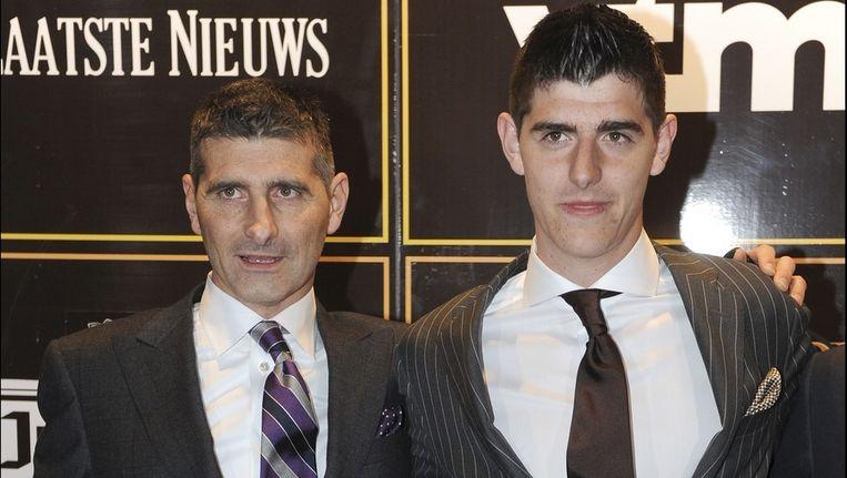 Thierry Courtois, naast zijn zoon Thibaut op het Gala van de Gouden Schoen (archieffoto)