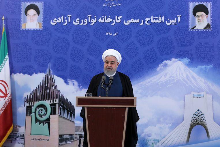 De Iraanse president Hassan Rouhani. Beeld EPA