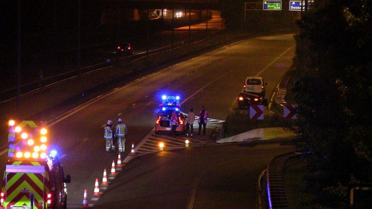 Het ongeval gebeurde op de E40 richting Gent.