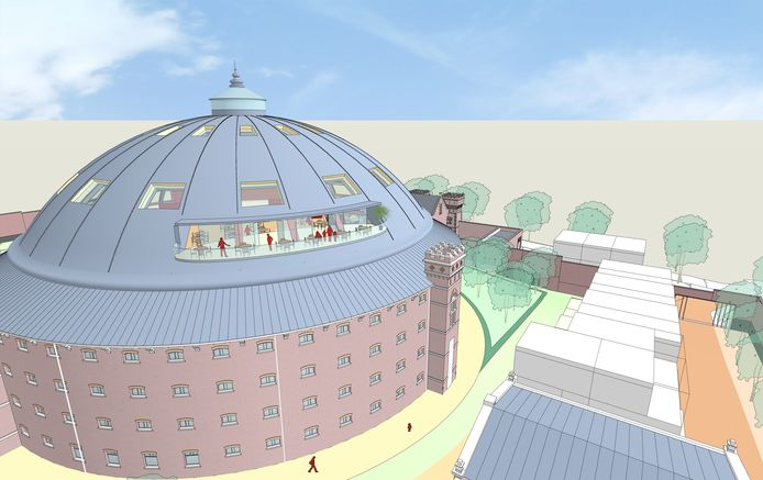 Impressie van het Stadstheater dat eigenaar Bas Tolmeijer in de Koepelgevangenis in Arnhem mogelijk acht.