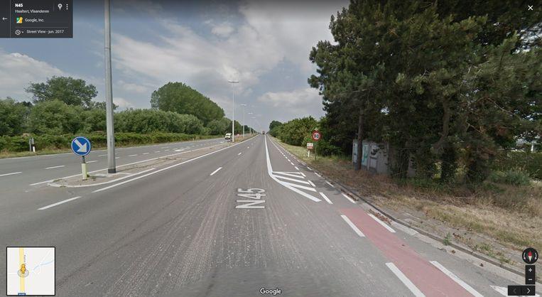 Het ongeval gebeurde ter hoogte van de Wilgenstraat.