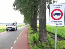 Dorpsraad Zegge: 'Snel maatregelen voor Lage Zegstraat bedenken'