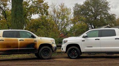 Toyota houdt woord en geeft held met gesmolten pick-up nieuw exemplaar
