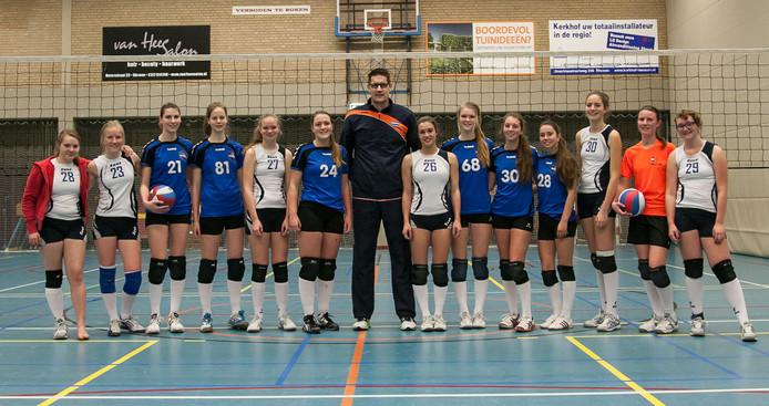 Leden van volleybalvereniging Excelsior in 't Gastland.