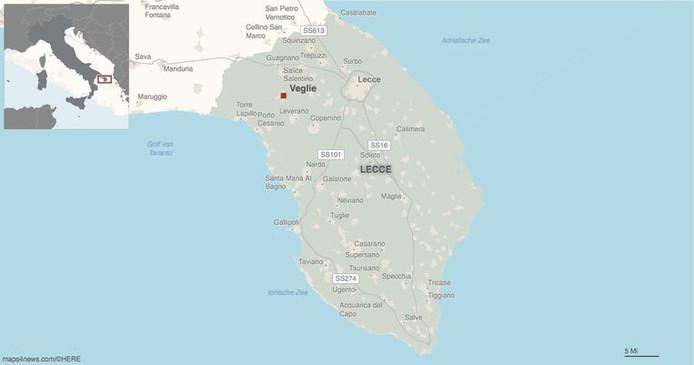 Lecce est situé dans le sud de l'Italie, dans le talon de la botte.