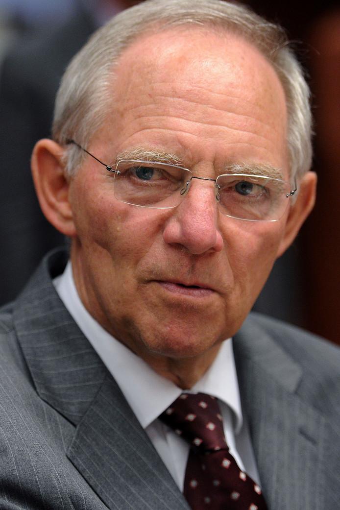 Wolfgang Schäuble wilde graag minister van Financiën blijven in Duitsland.