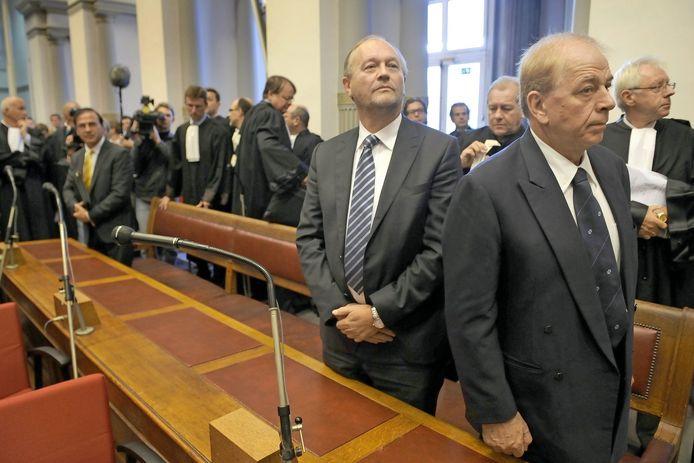 September 2010, Pol Hauspie en Jo Lernout in het hof van beroep.
